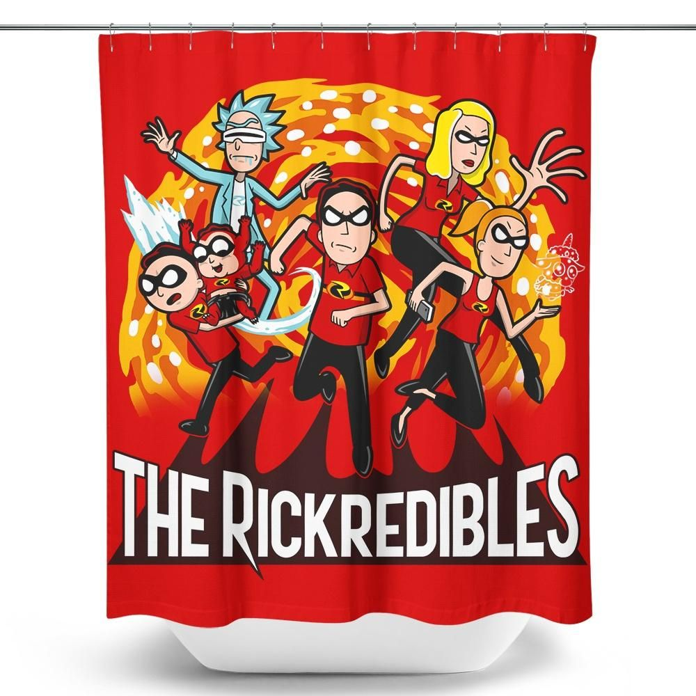 The Rickredibles Shower Curtain In 2019 Rick Morty Rick