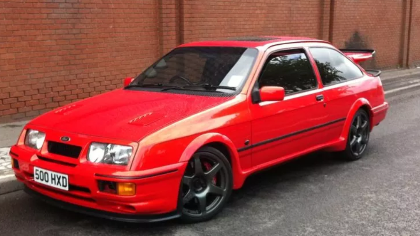 ford sierra cosworth 3 door 1987 with genuine rs500 parts. Black Bedroom Furniture Sets. Home Design Ideas