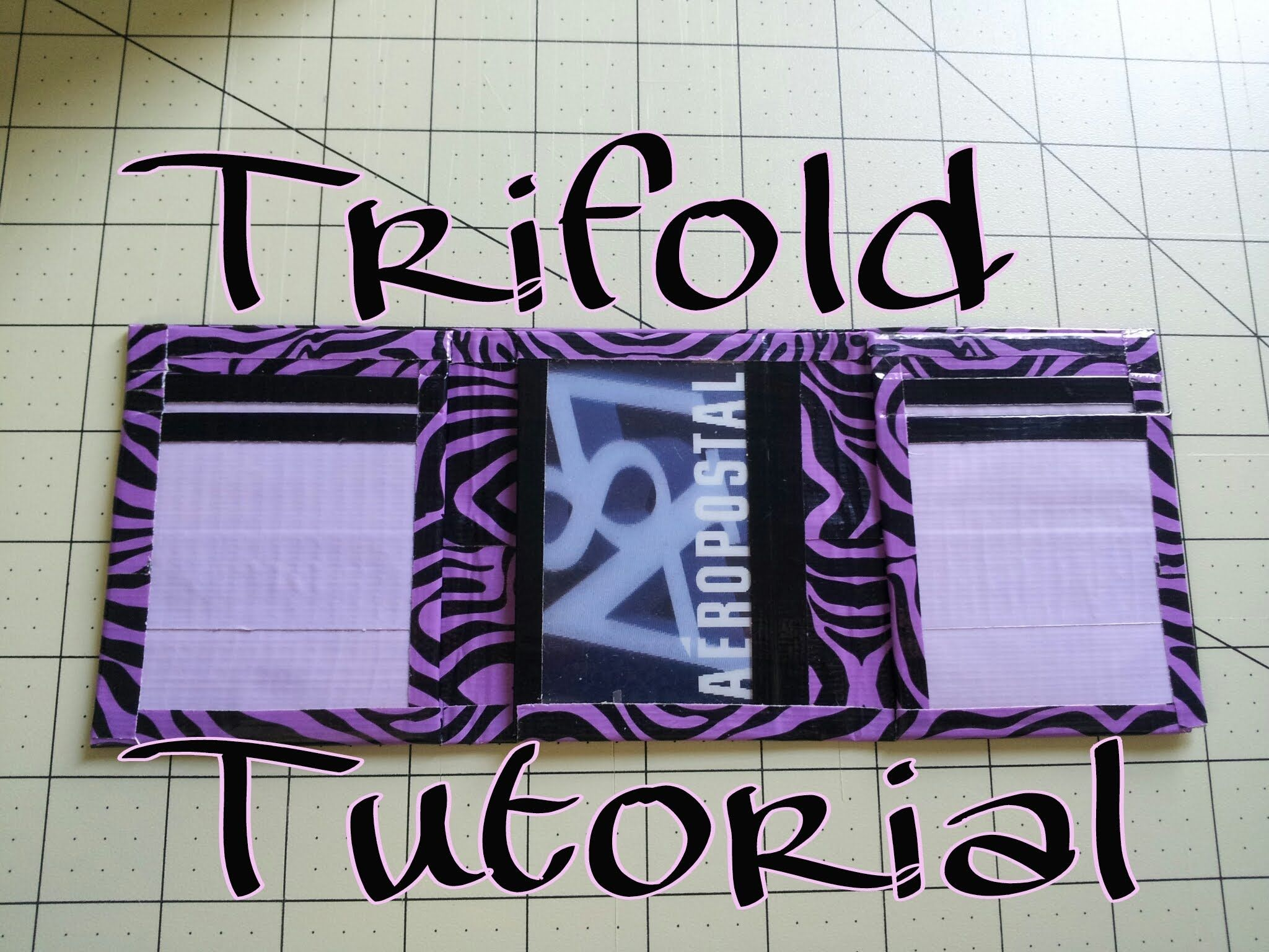 (DIY) Duct Tape Trifold Wallet Tutorial ( No Sticky Pockets!)
