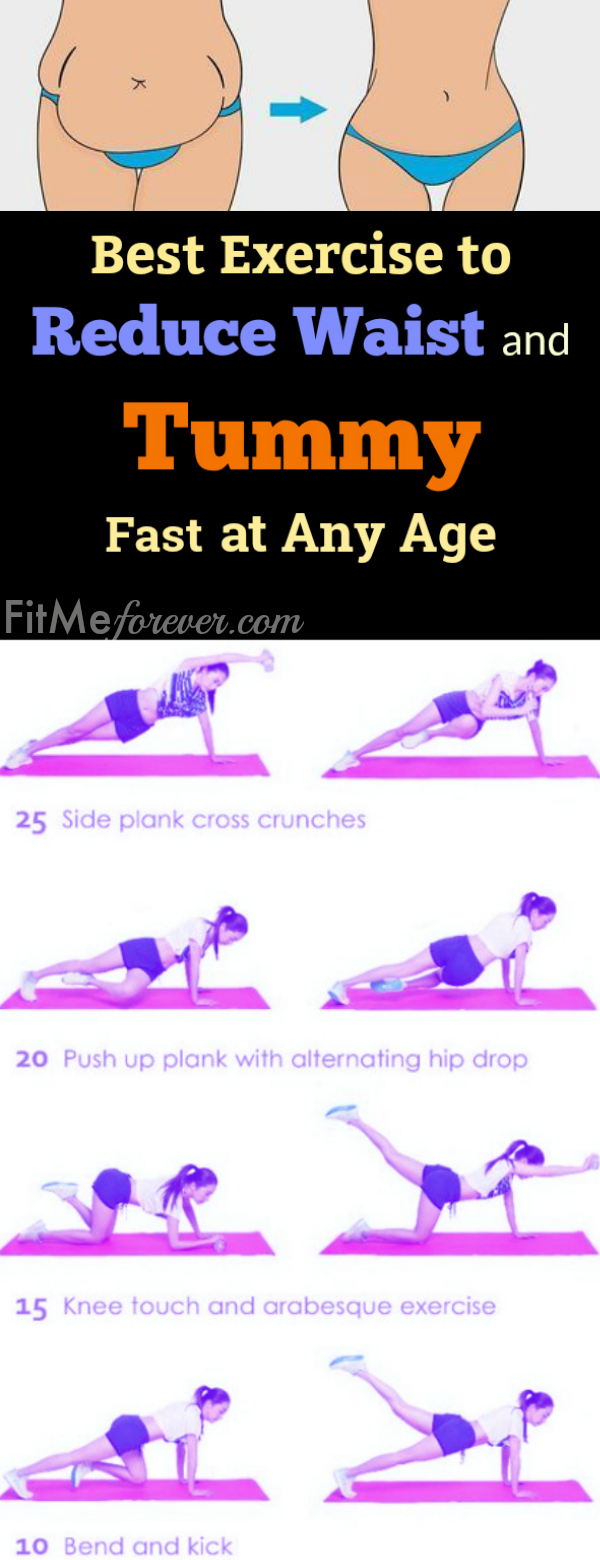 Best Exercise To Reduce Waist And Tummy Fast At Any Age In 7 Days Get Slim Waist Bigger Hips Fl Exercise To Reduce Waist Waist Shaping Exercises Exercise