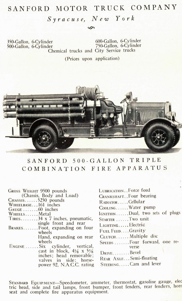 Sanford Motor Truck Company Fire Truck   Flickr - Photo Sharing!