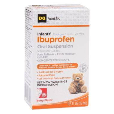 Ibuprofen and infants