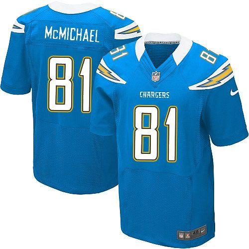 men nike san diego chargers 81 randy mcmichael elite electric blue alternate nfl jersey sale