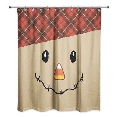 The Holiday Aisle Cyril Happy Harvest Scarecrow Shower Curtain Curtains Bed Bath