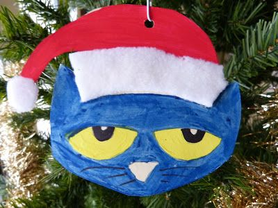 Paula's Preschool and Kindergarten: Pete The Cat Saves Christmas ornament