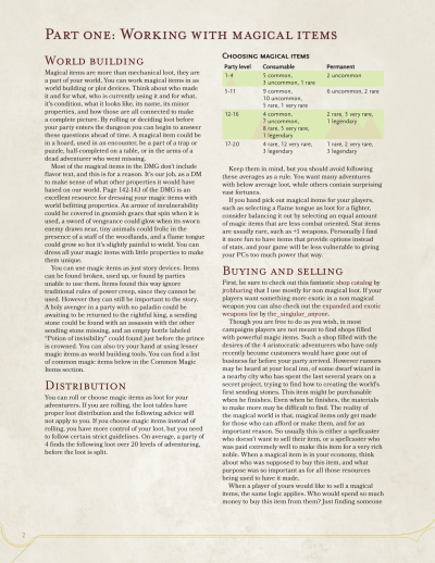 DnD 5e Homebrew — The Dungeon Master's Guide to Magical