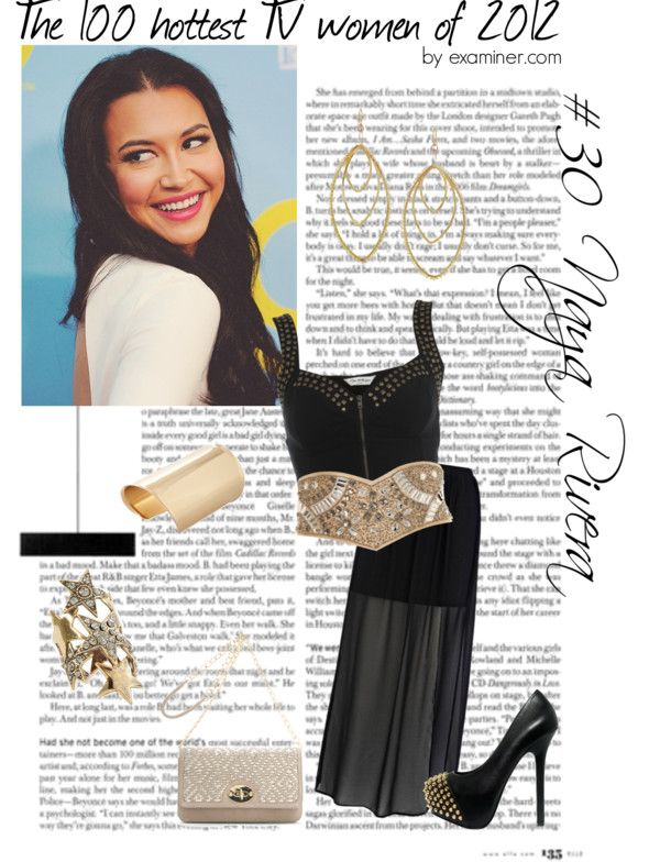 """""""The 100 hottest TV women of 2012 by examiner.com - #30, Naya Rivera [Glee]"""" by miky94 ❤ liked on Polyvore"""