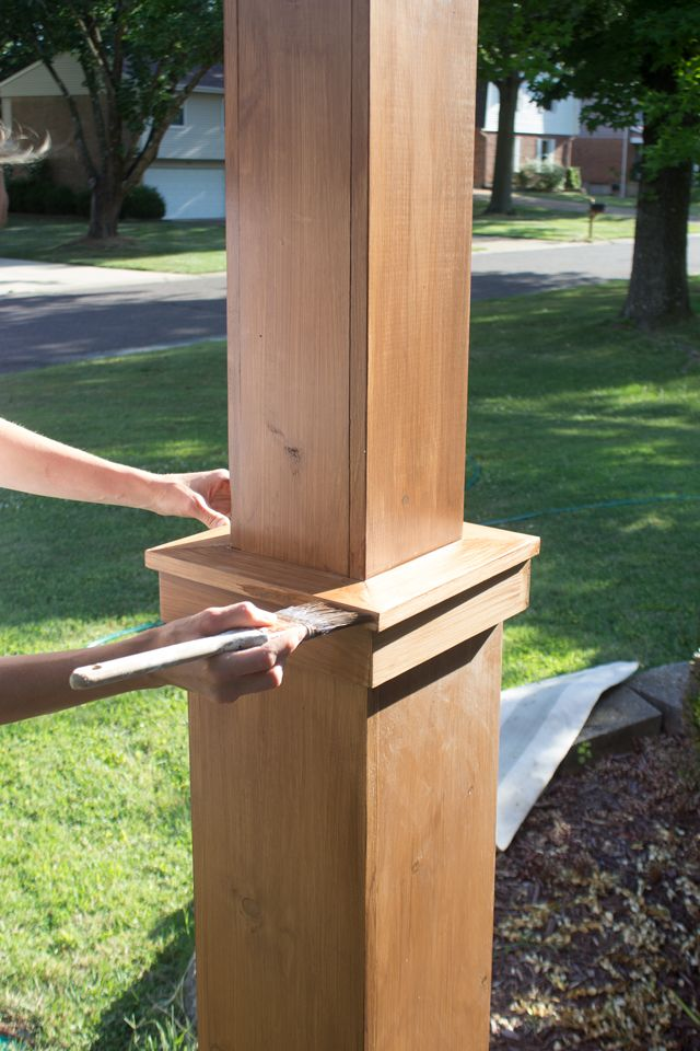 Diy craftsman style porch columns porch columns for How to build craftsman porch columns