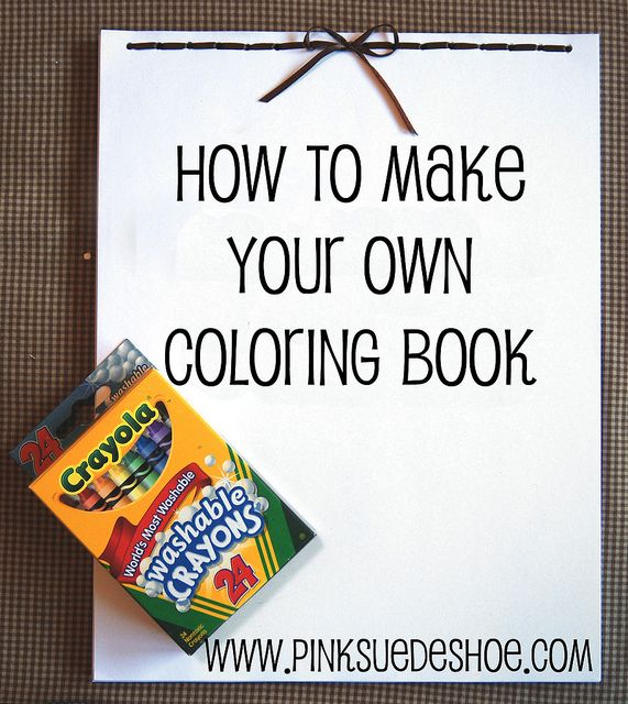 Coloring book tutorial | Bookbinding | Teaching Kids | Pinterest ...