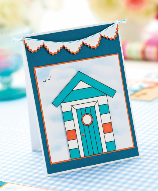 You Inspiration Hut Submit Your Inspiration: Beach Hut Cards, Summer Card Beachy, Happy, Good Life