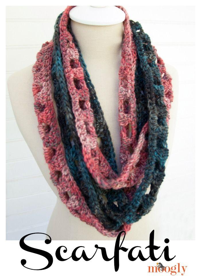 Scarfati: Free #Crochet Pattern on Moogly! | Dos tonos, Lana y Tejido