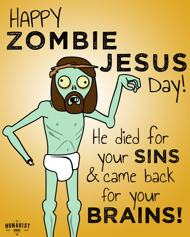 afd89cc7ab Happy Zombie Jesus Day! Easter Card