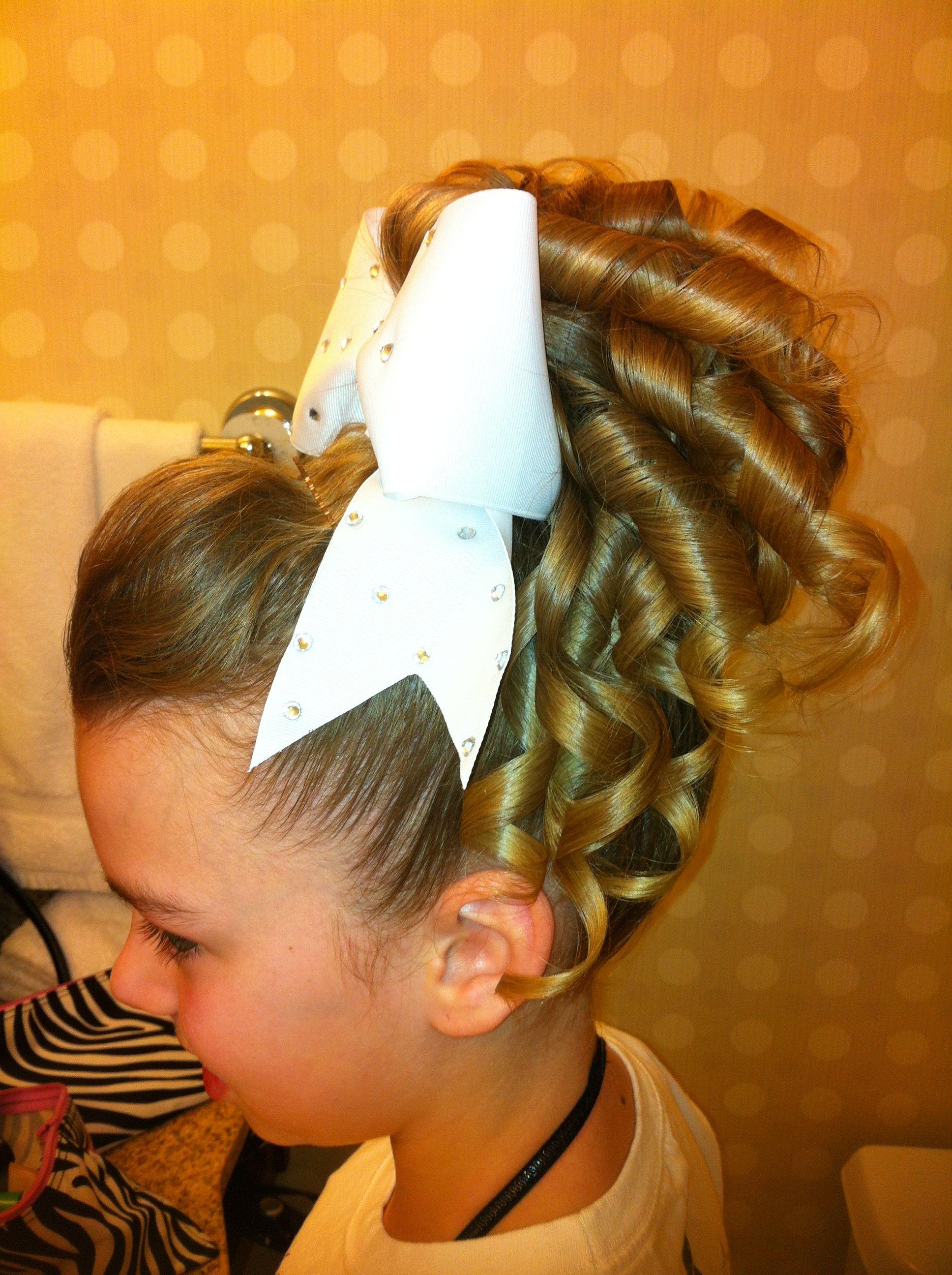 Cheer hair hair ribbons pinterest cheer hair cheer and