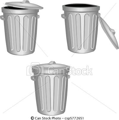 Vector Clip Art Of Trash Can Csp5772651 Search Clipart Illustration Drawings And Eps Vector Graphics Images Canning Trash Can Art Icon