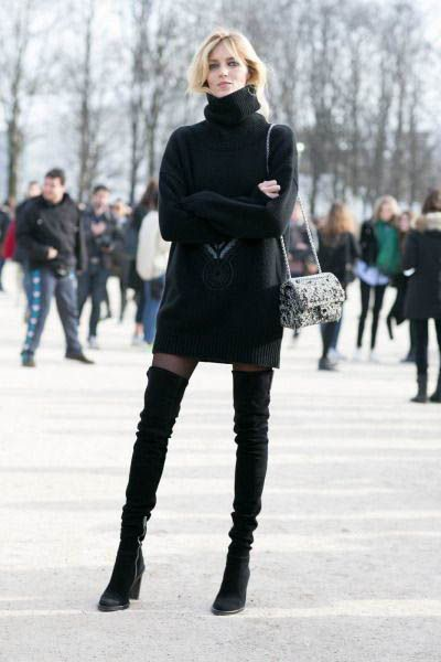 Tasteful Ways to Wear Over the Knee Boots After 40 –