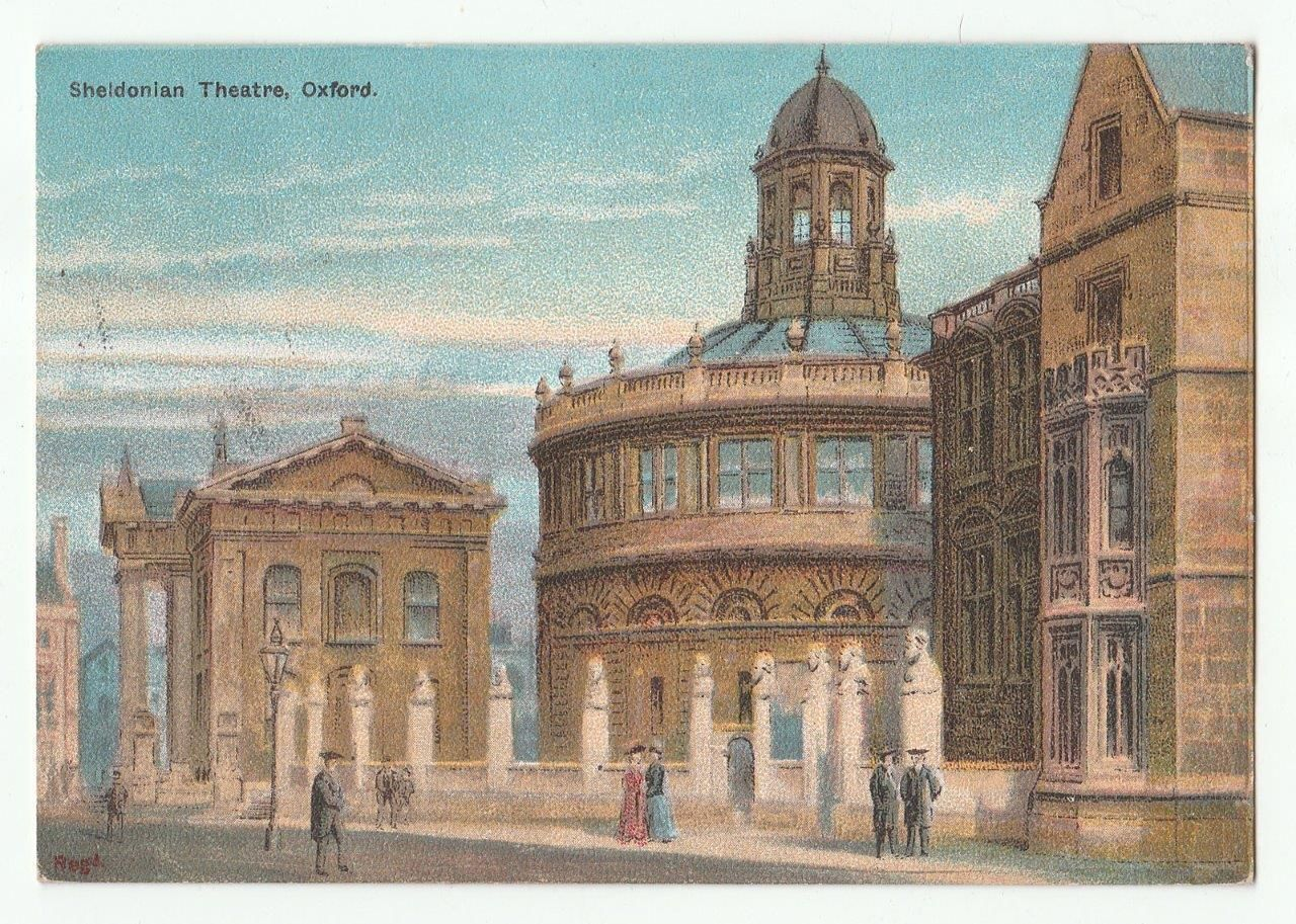 Oxford Sheldonian Theatre Vintage Old Postcard Circa 1907 | eBay