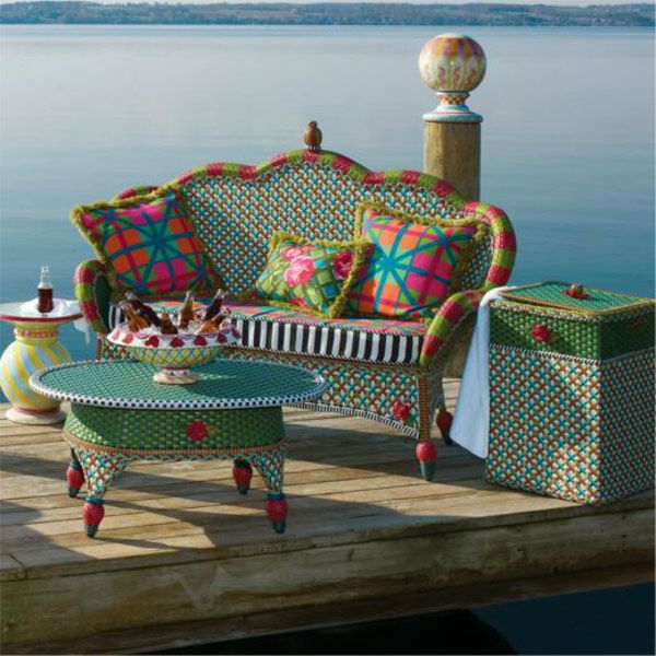 Mackenzie Childs Greenhouse Outdoor Porch Seating