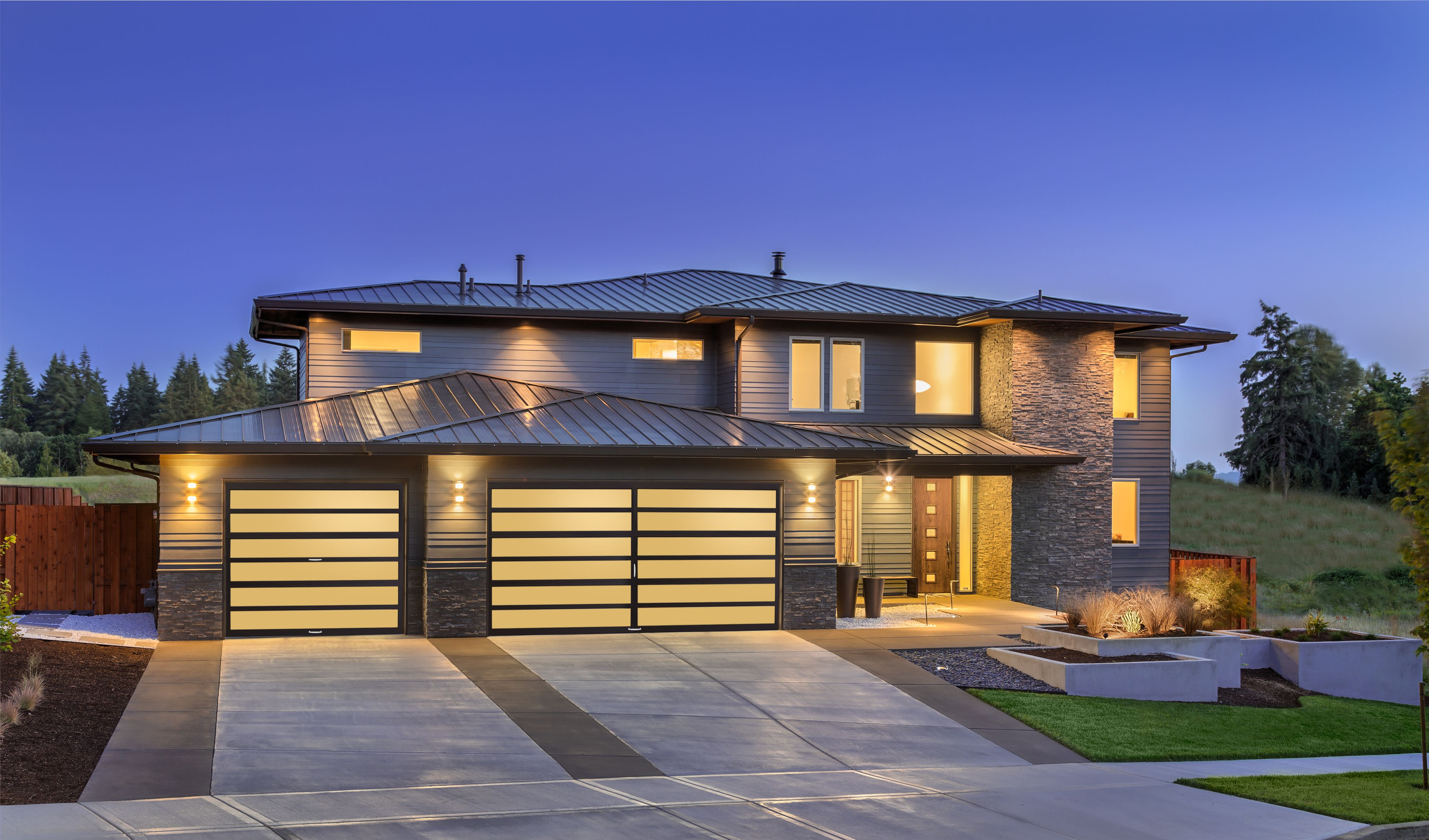 Amarr Horizon Ho1000 Contemporary Aluminum Multiview Garage Door