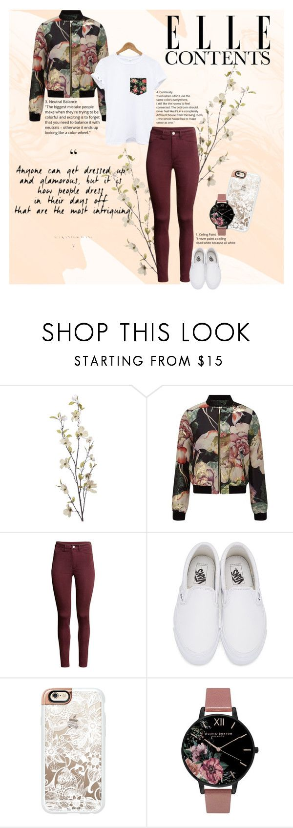 """""""Dressed for fall floral ."""" by britt-catlynne-weatherall on Polyvore featuring Pier 1 Imports, Miss Selfridge, Vans, Casetify and Olivia Burton"""