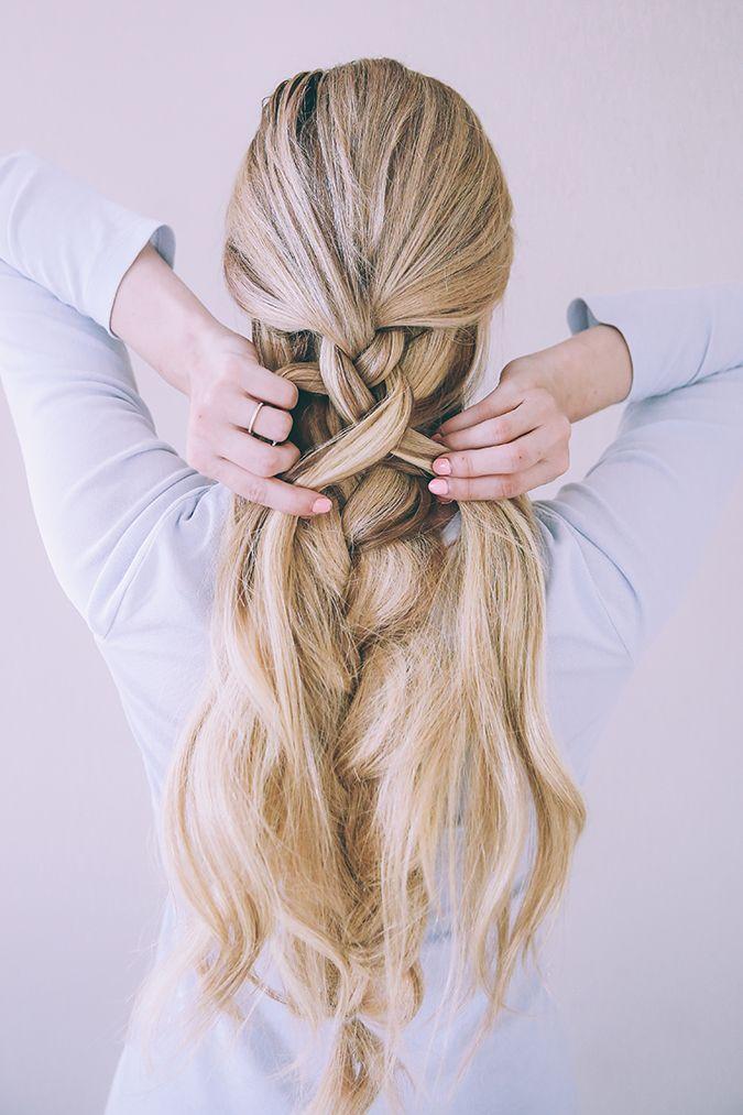 hair - textured double braid
