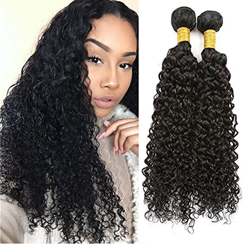 Top Hair Brazilian Kinky Curly Unprocessed Virgin Jerry Curly Weaves