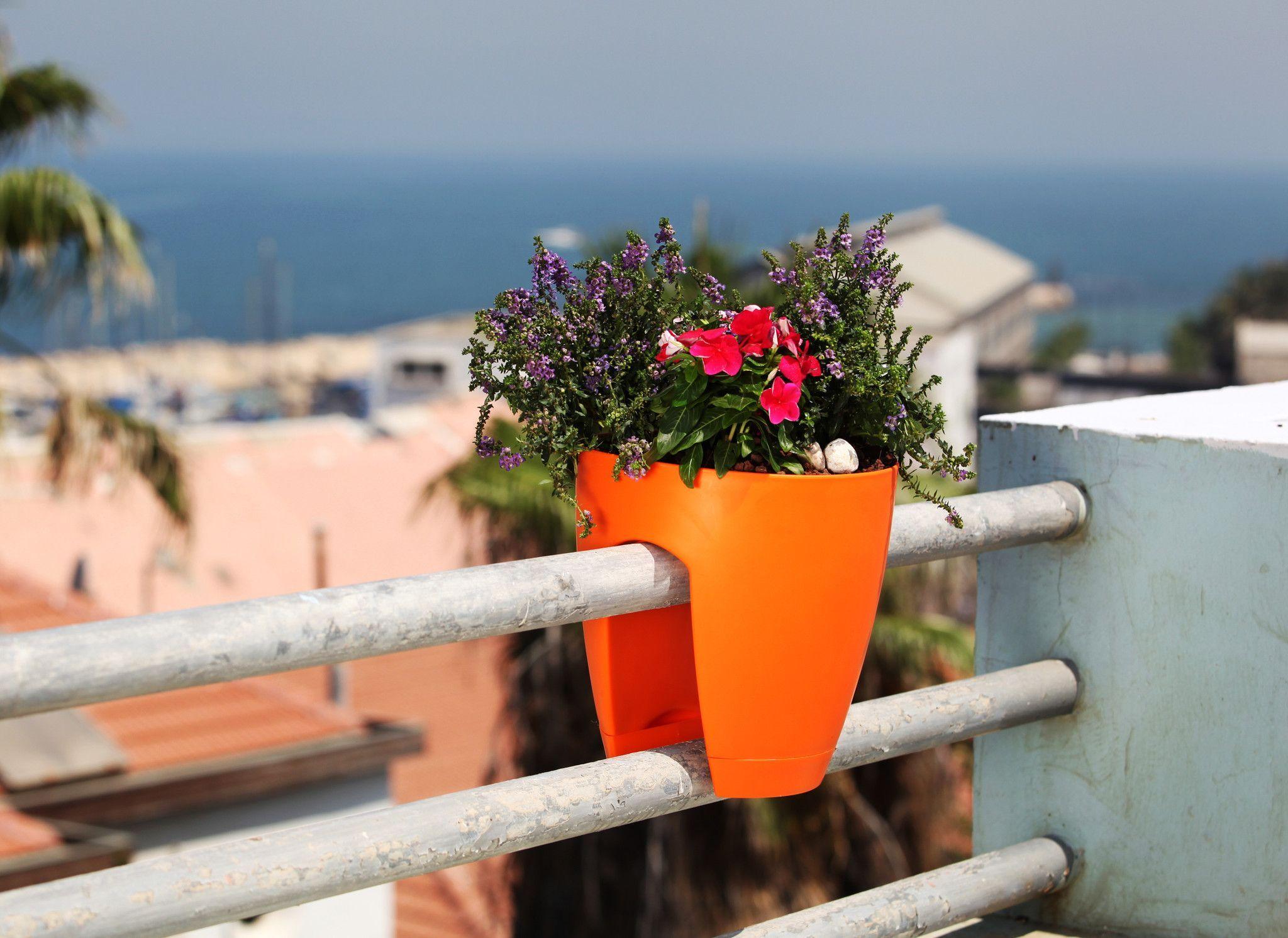 Greenbo Railing And Deck Window Flower Planter Set Of 2 Deck