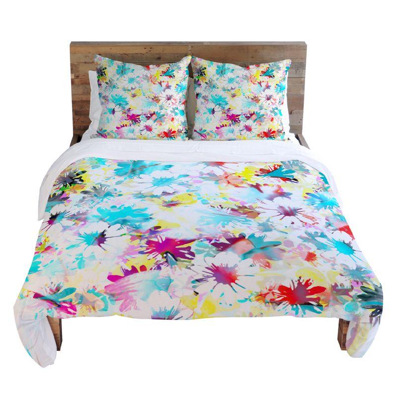 Paint Splatter Floral Bedding So Fun Dorm Room Styles Rose Bedding Bed