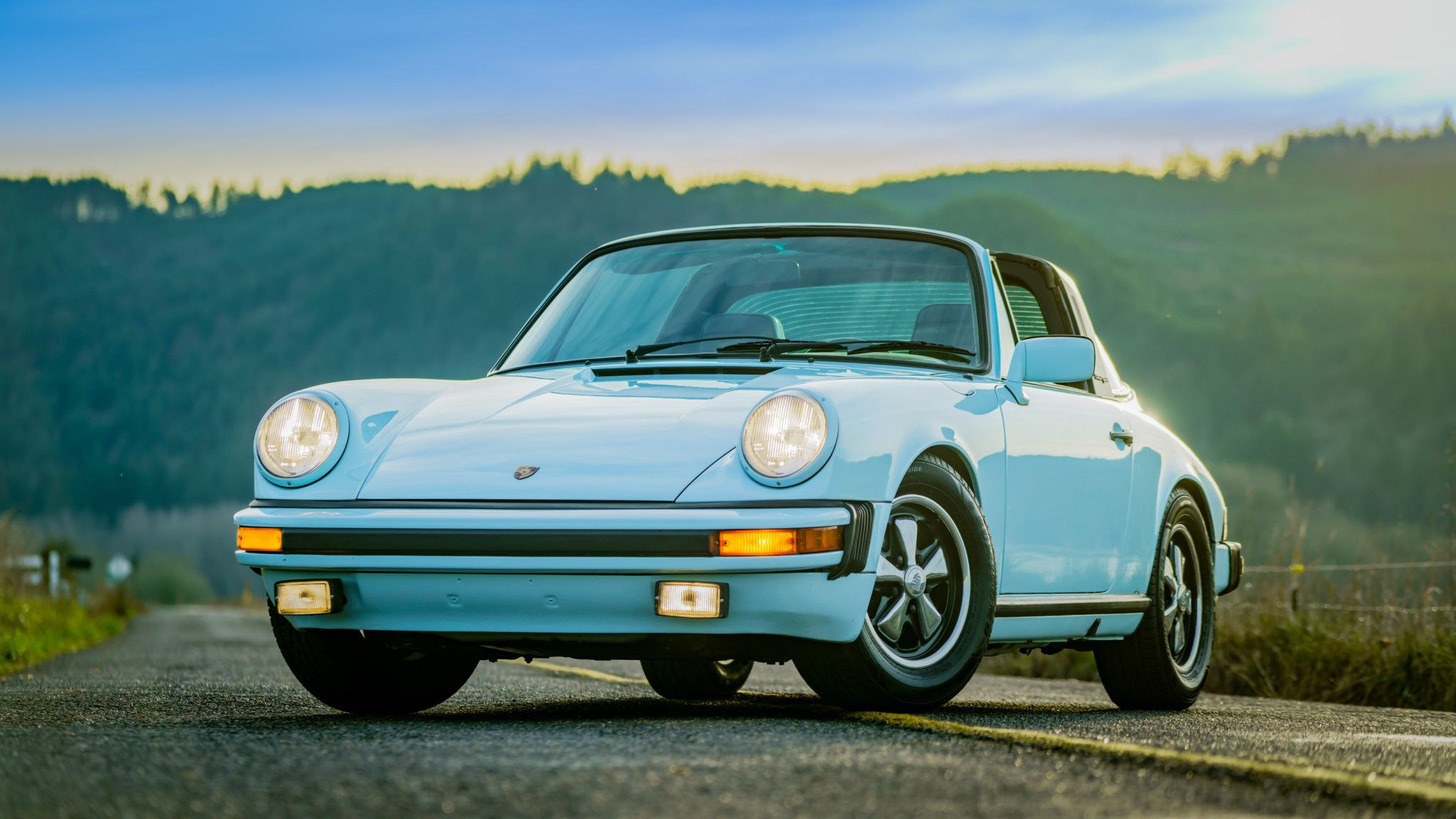 Ice Blue 1977 Porsche 911S Targa