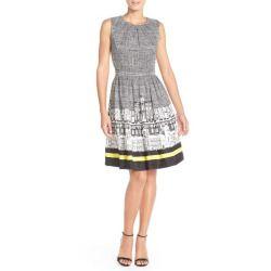 Ellen Tracy Print Twill Fit & Flare Dress >>>$$price $118.00 At : Top10dresses #Ellen-Tracydress #Ellen #Tracy #Print #Twill #Fit #& #Flare #Dress