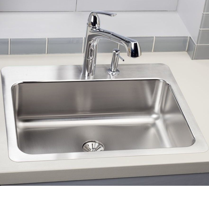Lustertone 27 L X 22 W Dual Mount Kitchen Sink With Images