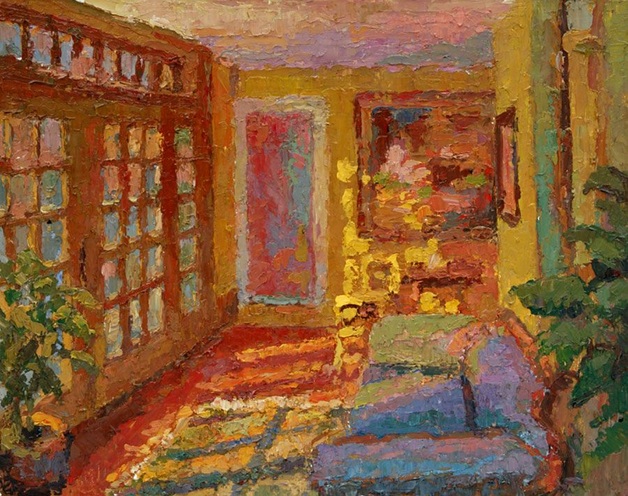 Connecticut Impressionist Artist Leif Nilsson. Fun Colorist Painting