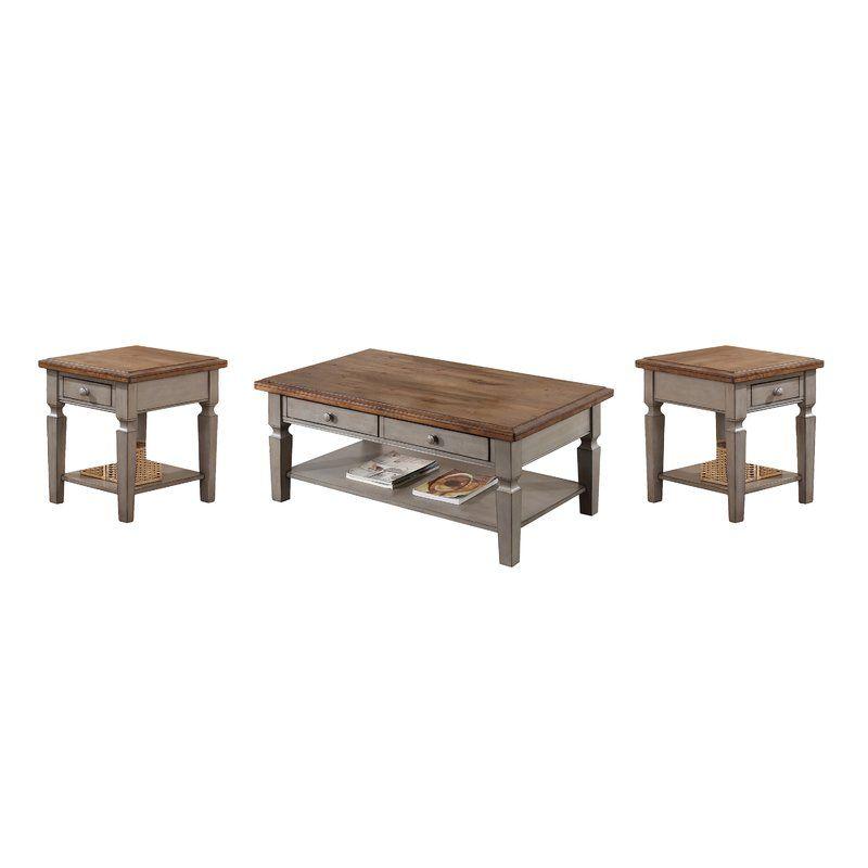 Murtaugh 3 Piece Coffee Table Set Coffee Table 3 Piece Coffee Table Set Stylish Coffee Table