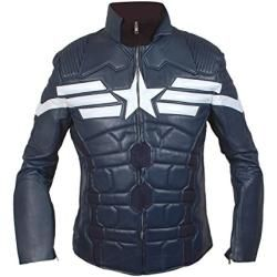 Captain America 2014 Der Winter SoldierMotorrad Leder Jacke - Replik - s