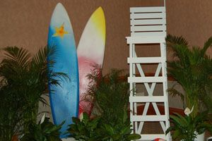 Surfboards #bydzign #props #vegasdecor #décor #partyrentals For more info/ideas visit www.by-dzign.com