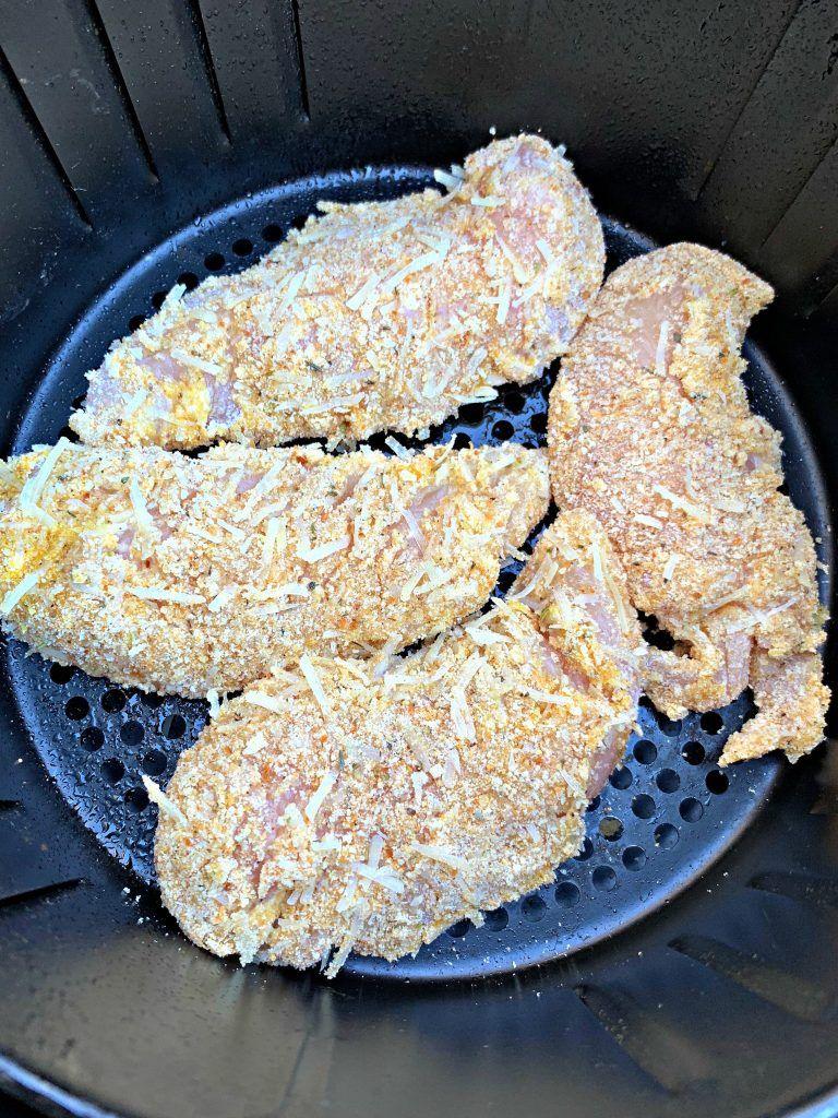 Easy air fryer parmesan breaded fried chicken tenders