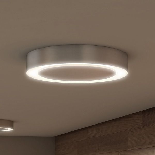 Vonn lighting talitha 16 inch led satin nickel circular ceiling fixture