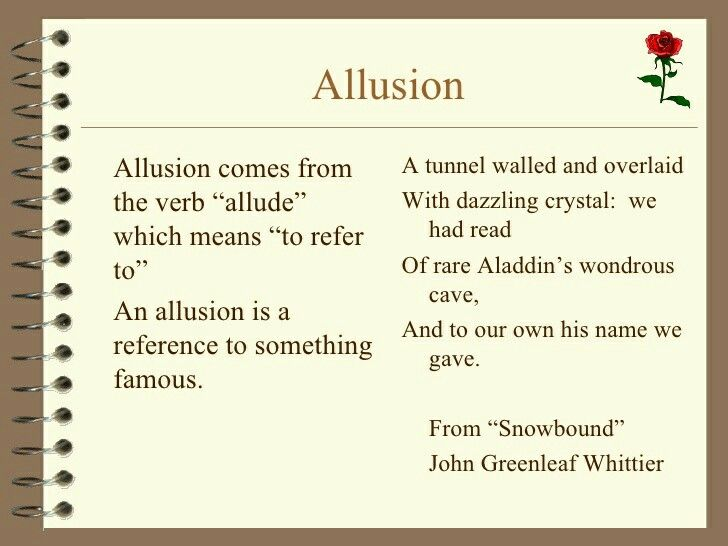 Allusion Writing Poetry Pinterest Writing Poetry