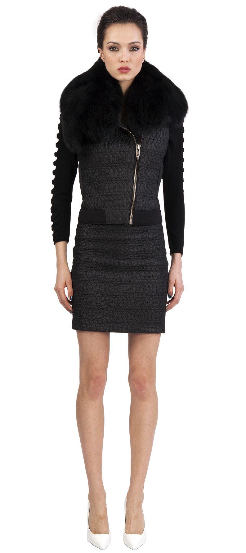 Catherine Malandrino: ponit mini skirt in noir