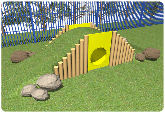 Nursery Playground Play Mound | Kids Outdoor Tunnel Ramp ... on playhouse fort, swing set fort, diy fort, snow fort, build a back yard fort,