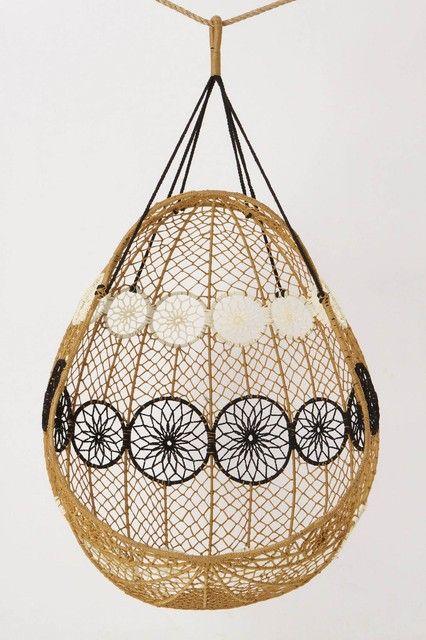 Knotted Melati Hanging Chair #hangstoel #handmade #Stekmagazine