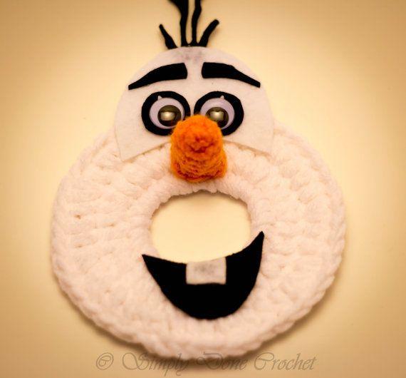 Olaf Inspired Handmade Crocheted Camera Bling lens Buddy Frozen Disney Photography Photo Prop