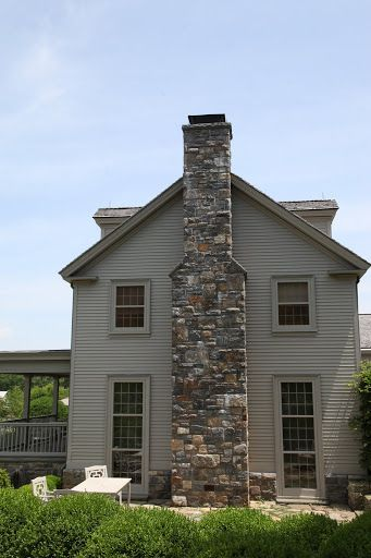 And On The Chimney Farm House Colors Stone Chimney House Colors