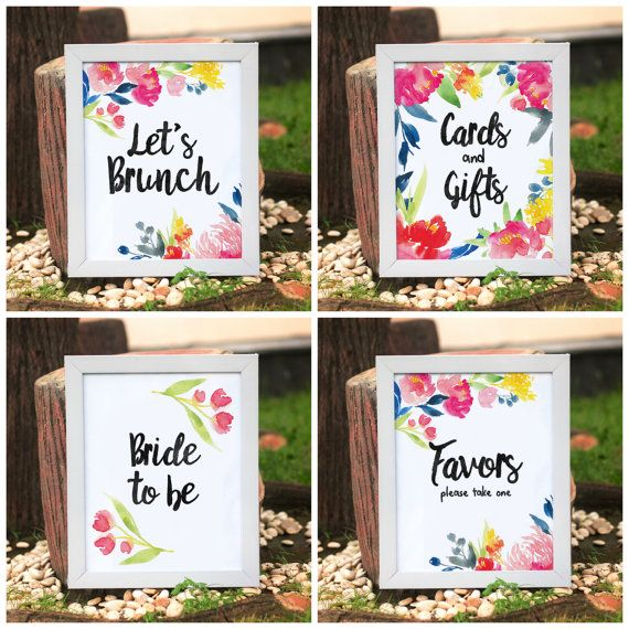 tropical bridal shower bridal shower sign package bridal shower printables bridal brunch mimosa bar sangria bar set of 9 8x10