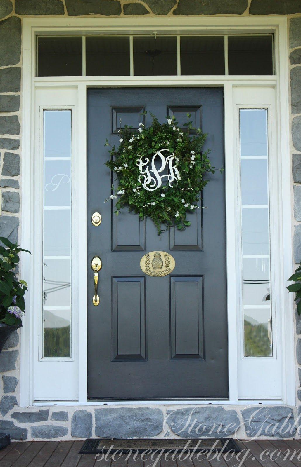 Front Door Wreath Summer 2013 Stonegable Summer Front Door Wreath Summer Door Wreaths French Front Doors