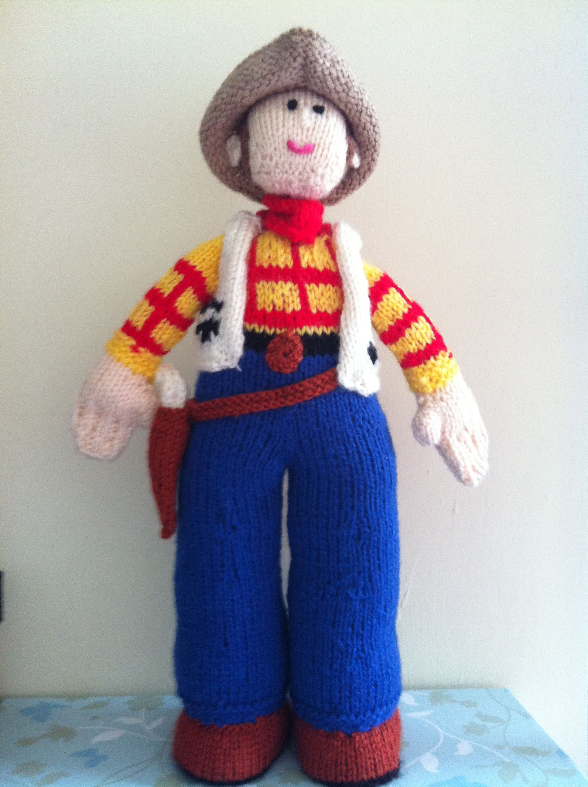 Toy Story Knitting Patterns Woody : Woody - Toy Story adapted from Alan Darts cowboy pattern My hand knit ...
