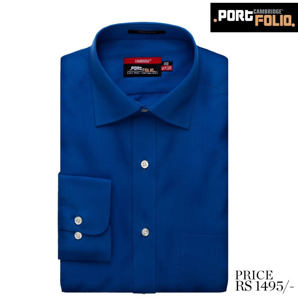 CAMBRIDGE Portfolio Shirts Collection 2014 For Men - Deep Water Blue  Shop Online: http://goo.gl/yXINDe  #Cambridge #Shirt #Online #Formal #Fashion #Portfolio #Menswear