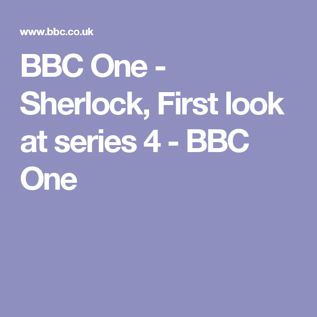 BBC One - Sherlock, First look at series 4 - BBC One
