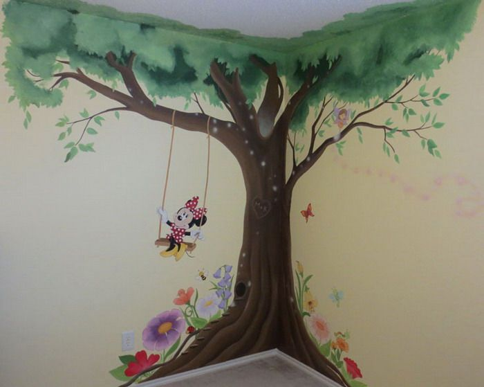Kids Room With Minnie Mouse Wall Murals Part 48