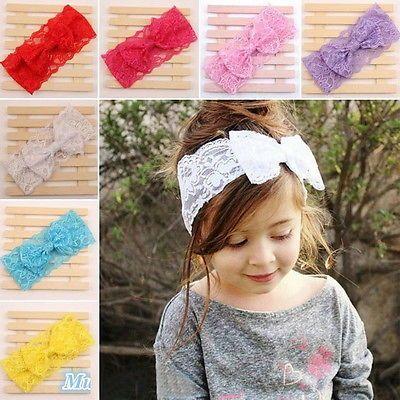 Details zu Mädchen Baby Spitze Haarband Stirnband Kopfband ...