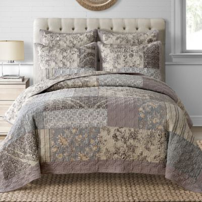 Davis Quilt In Taupe Bedbathandbeyond For The Home